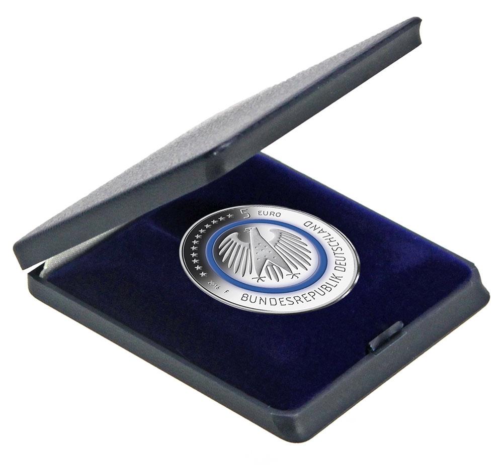 Safe 7960 Dunkelblaue Hartschalen Etuis Münzetui Für Münzen