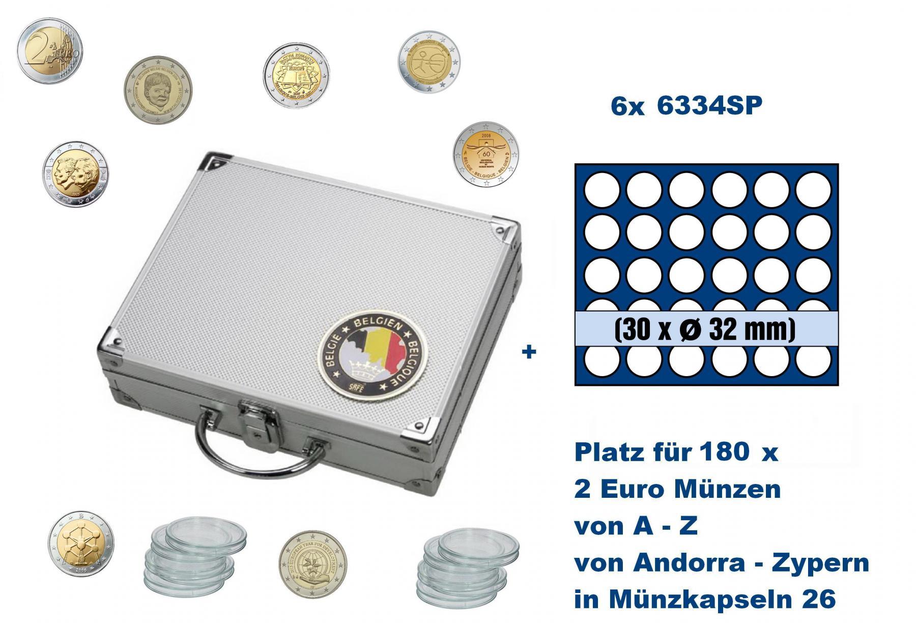 Safe 239 6334 Alu Länder Münzkoffer Smart Belgien Belgique