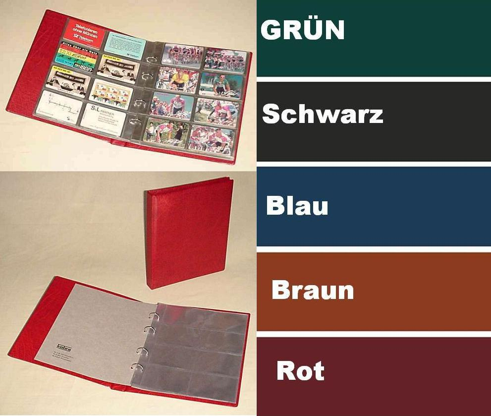 Kobra G28 Rot Telefonkartenalbum Visitenkartenalbum Mit 10 Blättern G28e Für 80 Telefonkarten Visitenkarten Yatego Com