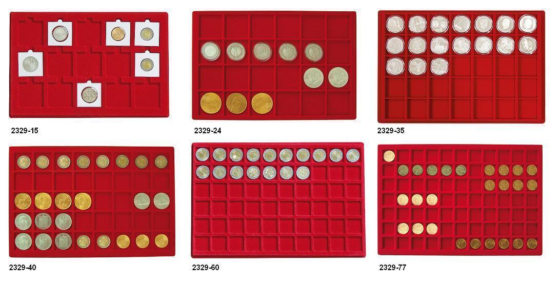 1 X Safe 192 Blaue Münztableaus 24 Münzen Bis 38 Mm Für 10 Euro Dm