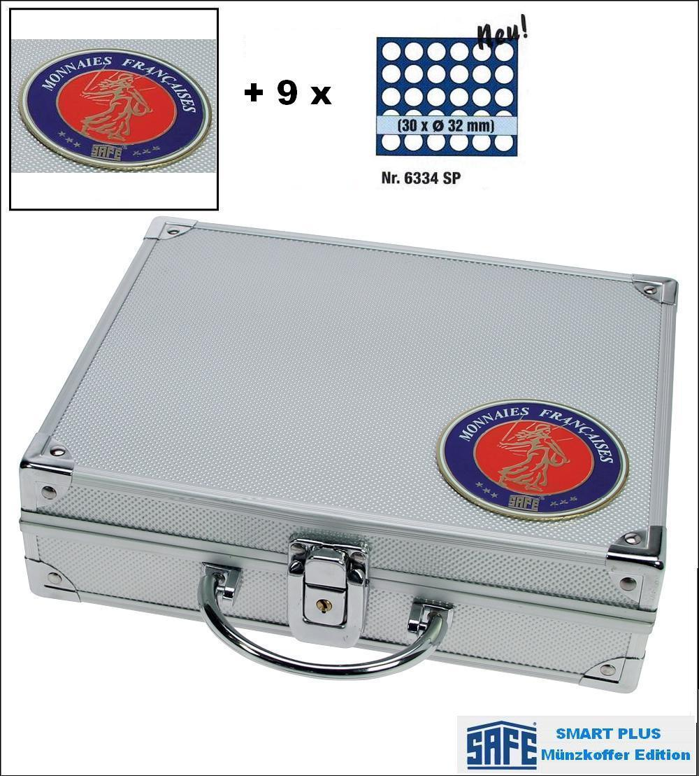 Safe 231 6334 Plus Alu Münzkoffer Smart Frankreich 9 Tableaus 270