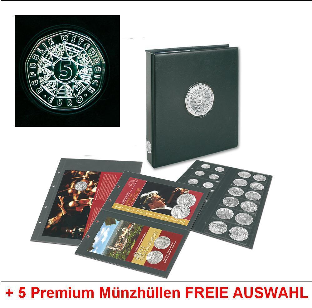 Safe 73408 Plus Premium Euro Münzalbum österreich 5 Euro Münzen 5