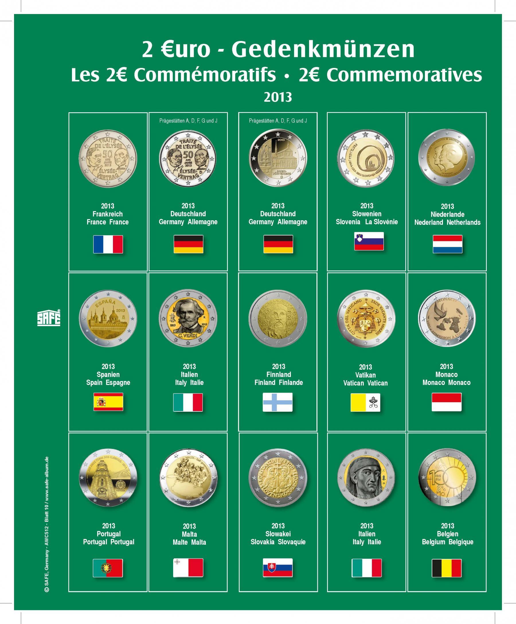 Safe 7341 10 Premium Münzblätter Ergänzungsblätter Münzhüllen 7393