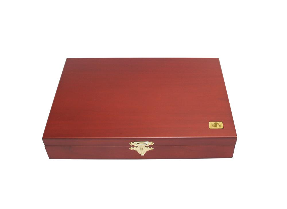 Safe 5895 Elegance Holz Münzkassetten Mahagonifarbend 3 Tableaus