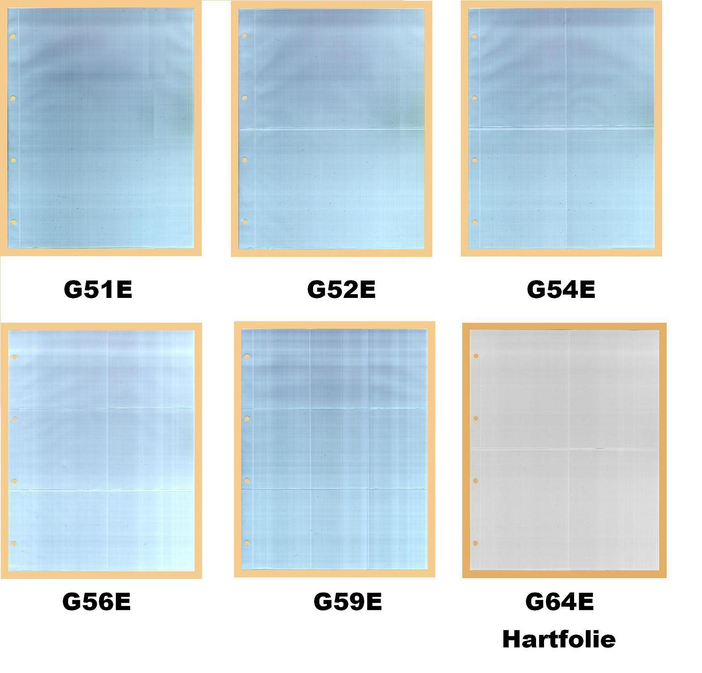 5 X Kobra G52e Ergänzungsblätter Din A4 2 Taschen 216x150mm Für A5