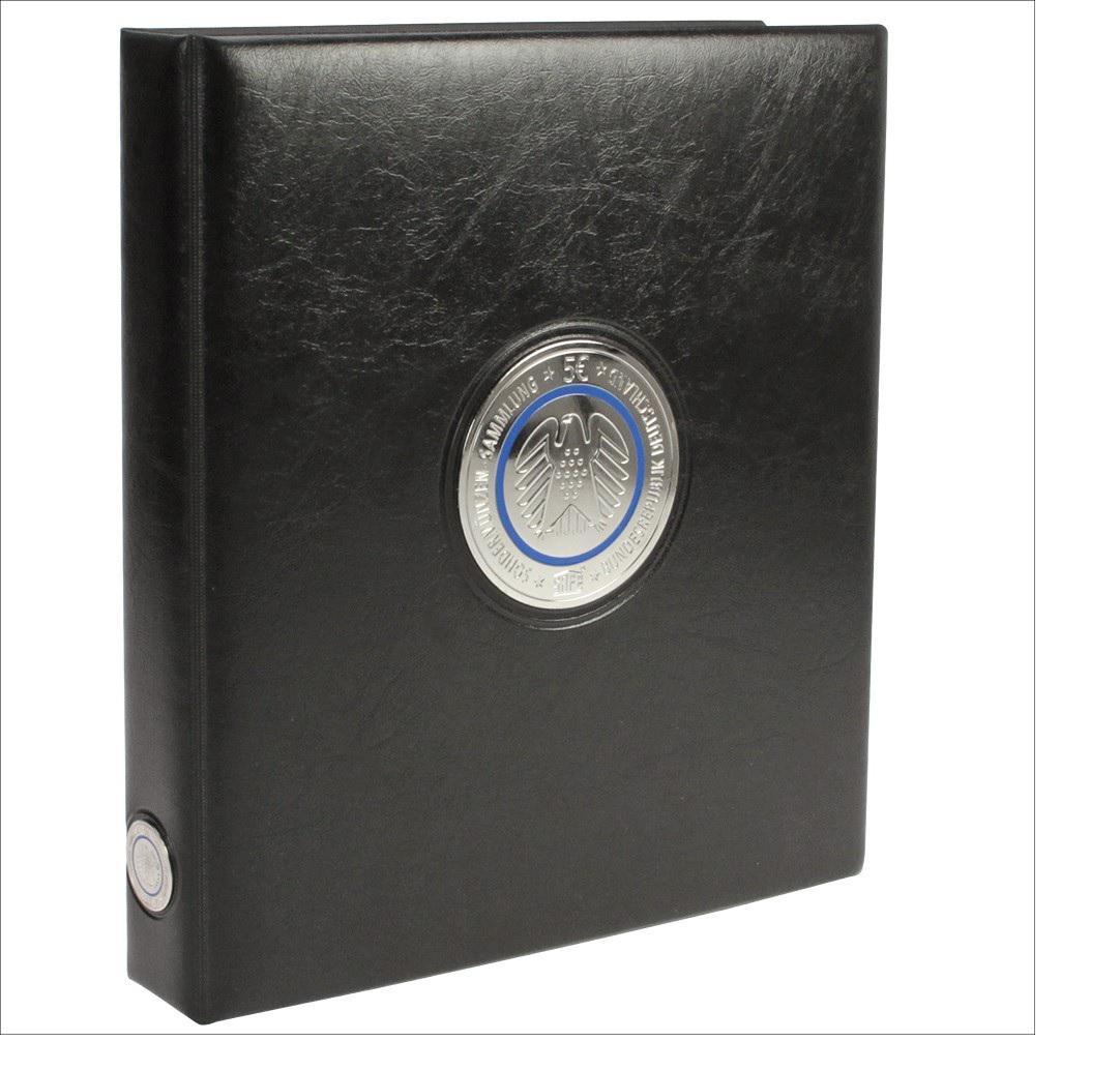 Safe 7360 0 Premium Münzalbum Sammelalbum Ringbinder Deutsche 5 Euro