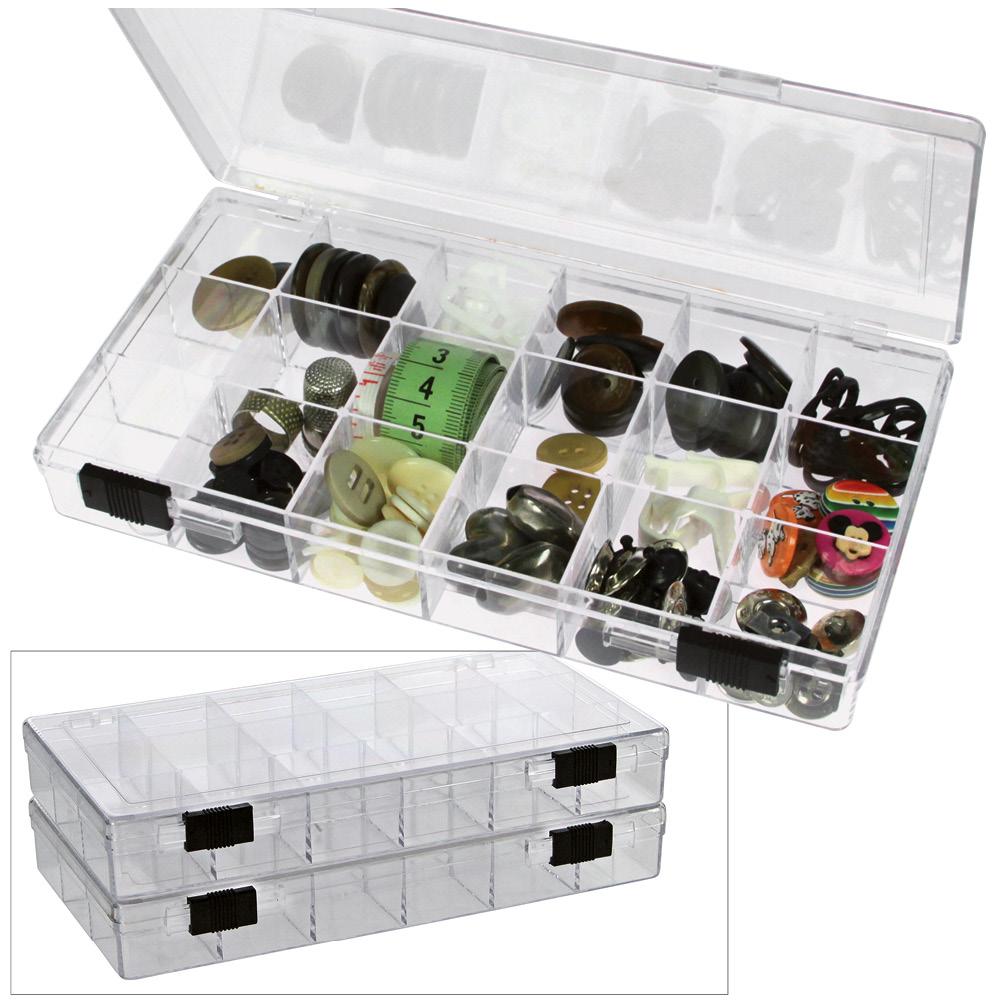 safe 5252 transparente kleinboxen setzkasten kunststoff universal mit deckel 24 runden dosen. Black Bedroom Furniture Sets. Home Design Ideas