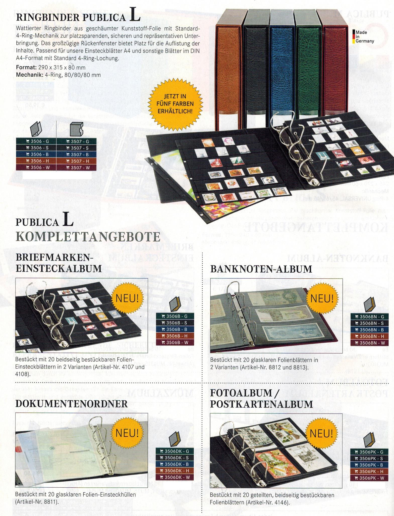 Lindner 8846 Klarsichth/üllen mit 6 Taschen