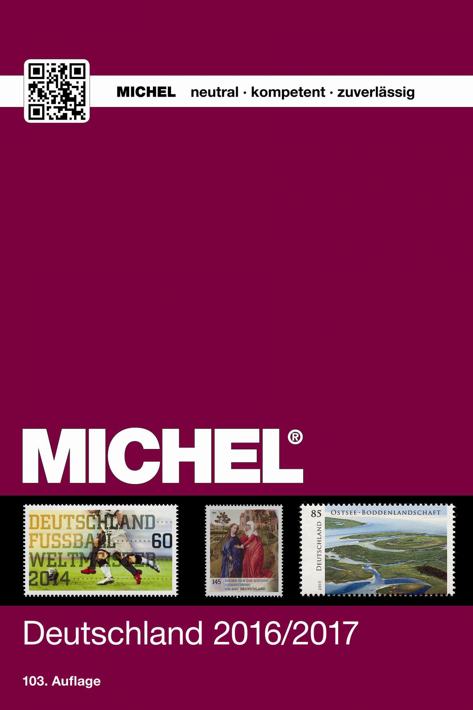 Michel Deutschland Briefmarken Katalog 103 Auflage 2016 2017