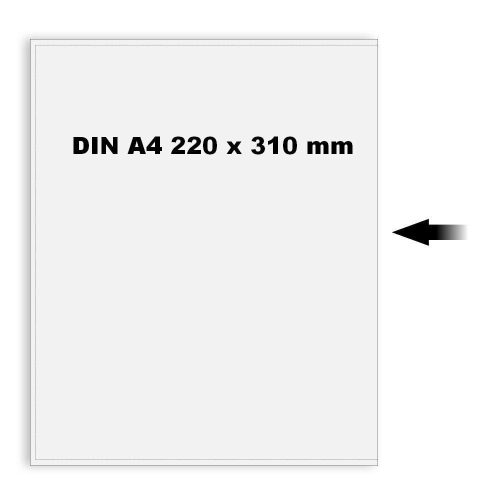 10 X Safe 9292 Klarsichthüllen Schutzhüllen Hüllen Din A4 Großformate Offene Breitseite 220 X 310 Mm