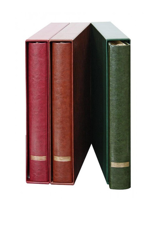 Rot Alben & Albenblätter Lindner Ringbinder Elegant 1120 Mit Kassette
