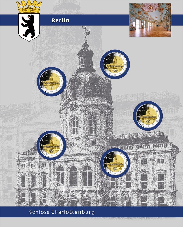 1 X Safe 7821 13 Topset Ergänzungsblätter 5x 2 Euromünzen Deutsche