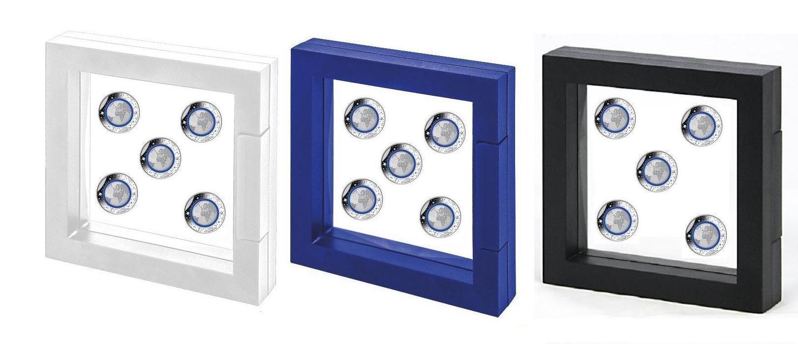 Safe 3d Schweberahmen Universum Blau Ideal Für 5 X 5 Euro Münzen