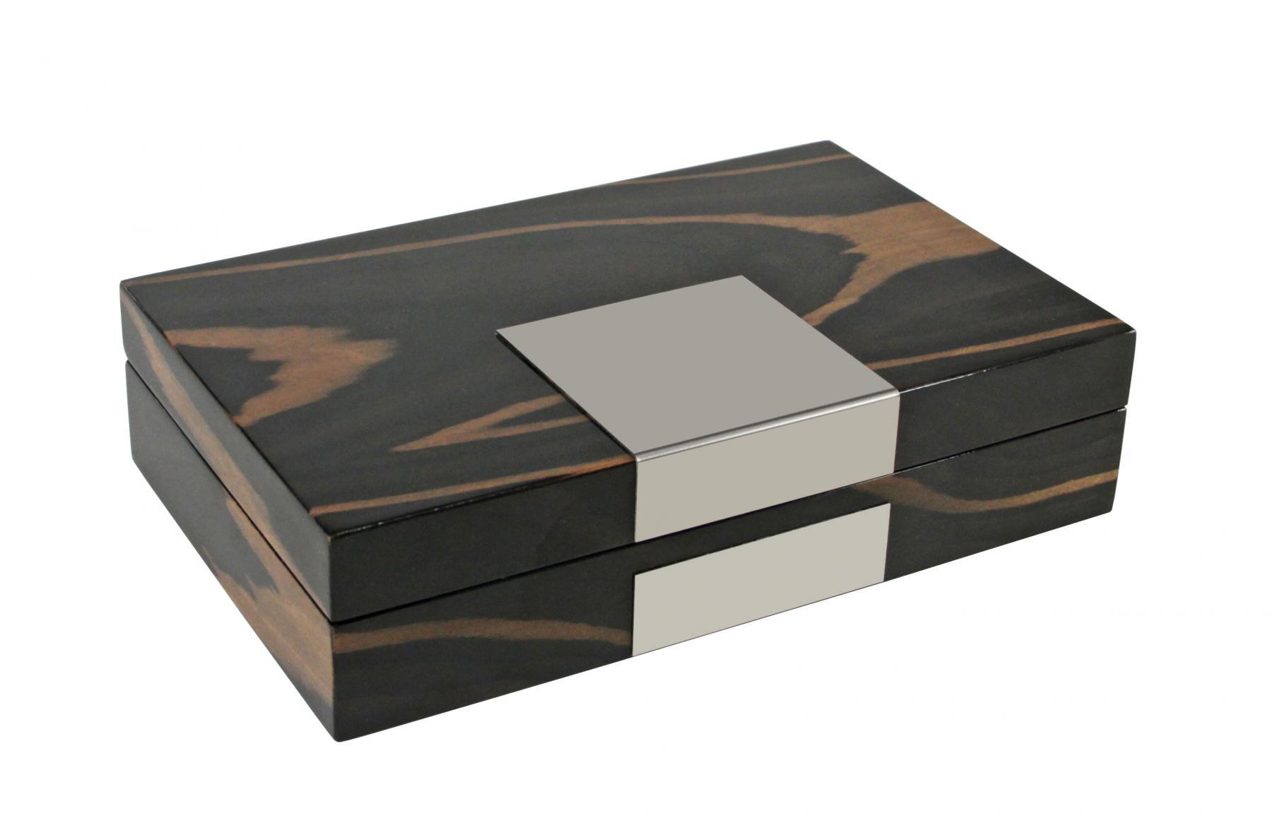 safe 7986 dunkle design holz hochglanz schmuckschatulle. Black Bedroom Furniture Sets. Home Design Ideas
