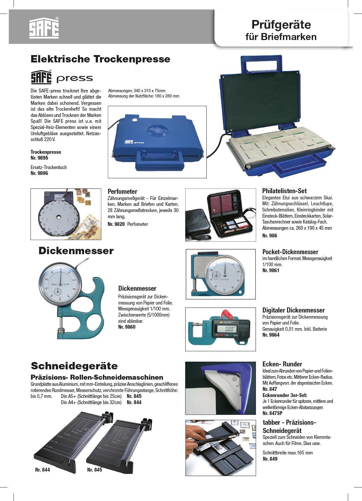 SAFE 9820 Perfometer Zähnungsmessgerät Zähnungsmeßgerät für ...