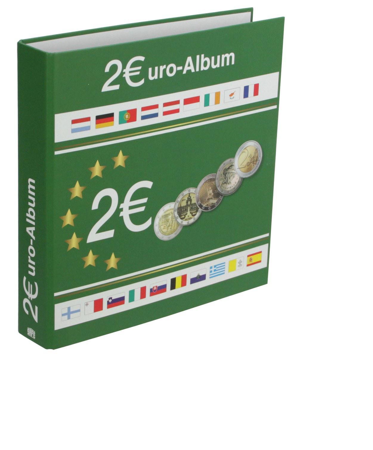 Safe 8556 Münzalbum Designo 2 Euro 5 Münzblättern Münzhüllen