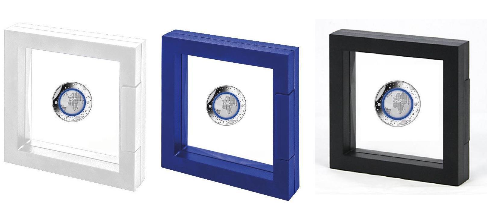 Safe 3d Schweberahmen Universum Weiß Ideal Für 5 X 5 Euro Münzen