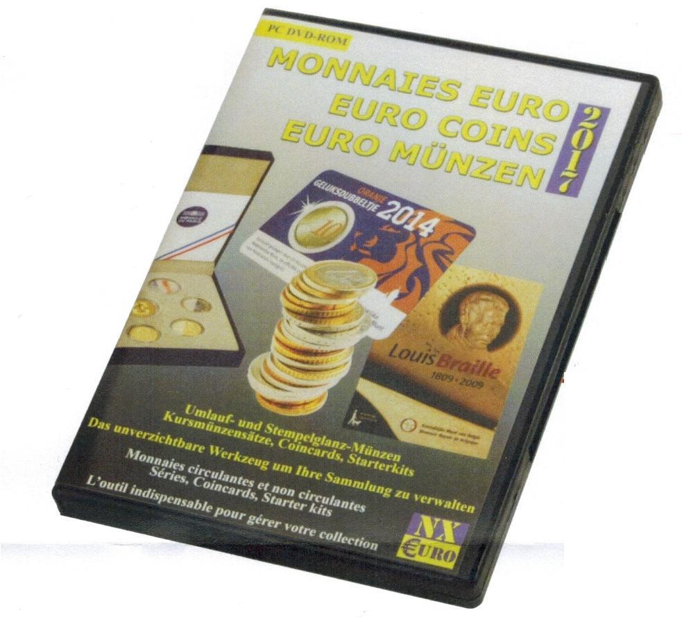 Safe Numix Euro 2017 Münzen Software Katalog Sammlerverwaltung Dvd