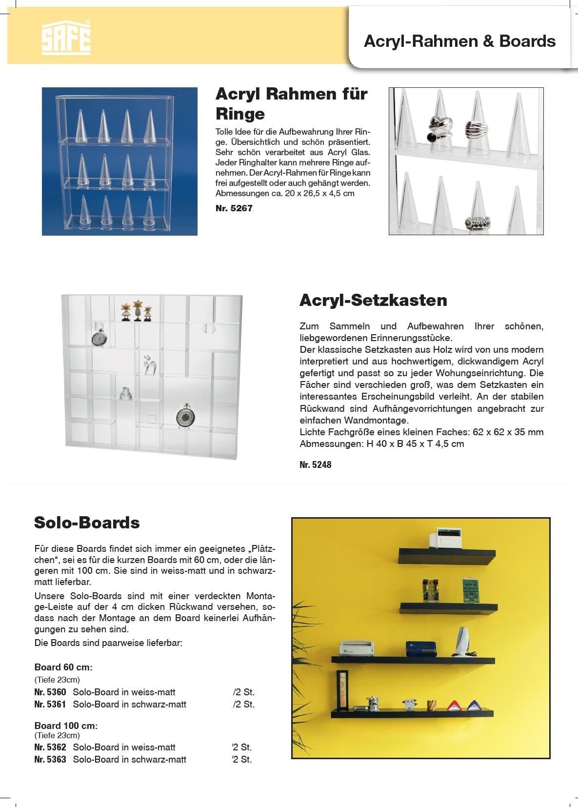 SAFE 5260 Transparente Kleinboxen Setzkasten Kunststoff Universal ...