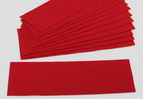 2 x SAFE 5225 Echtfilz Auflagen Karminrot Rot auf Zwischenböden - Für Vitrinen 5210