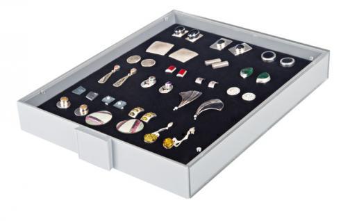 Lindner 2417 Sammelbox Standard Rot - Militaria Orden Abzeichen Pins Button Anstecknadeln - Vorschau 3