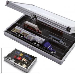 SAFE 5614 ALU Sammelvitrinen Vitrinen Setzkasten Compact mit 3 Fächern 275 x 57 x 40 mm Maße 295 x 203 x 45 mm Für alle Sammlerstücke von A - Z