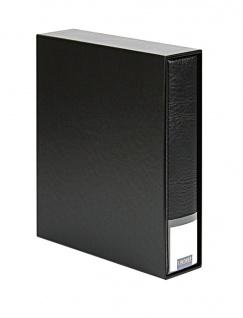 LINDNER 3533-S Schwarz Publica LS Ringbinder Album Universal A4 + Schutzkassette (leer) zum selbst befüllen