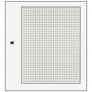 10 x SAFE 791 Karton Blankoblätter Weiss Mit schwarzem Rand und zartgrauem Netzdruck