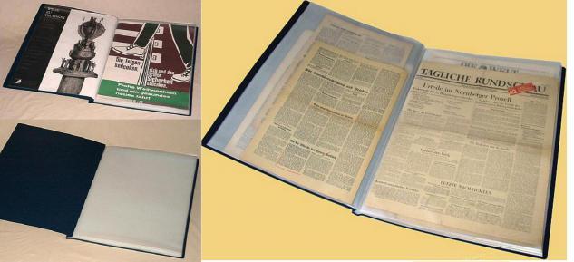 KOBRA B9 Blau Bogenalbum Plakatalbum Zeitungsalbum Präsentationsmappe + 25 Blätter DIN A2 600x420mm Zeichnungen Plakate