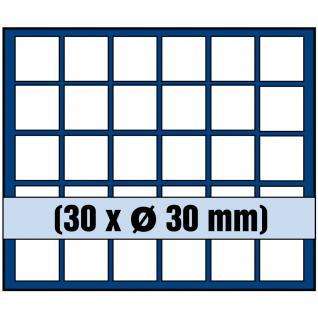 1 x SAFE 6330 SP Tableaus / Einsätze SMART mit 30 eckigen Fächern 30 mm ideal für 5 Euro DM Mark DDR & Münzkapseln bis 24, 5 mm