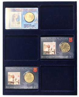 1 x SAFE 6373 SP Tableaus Einsätze SMART 6 eckigen Fächern 62 x 84 mm für Münzen in original Euro Coincards Coin-Cards