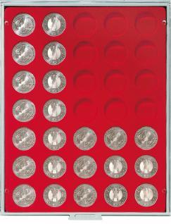 LINDNER 2111 MÜNZBOXEN Münzbox Standard Grau 35 x 32, 5 mm 10 & 20 EURO 10 DM 200 Euro Gold Münzen - Vorschau 1