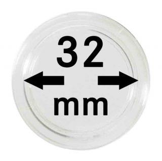 10 LINDNER Münzkapseln / Münzenkapseln Capsules Caps 32 mm für 2250032P