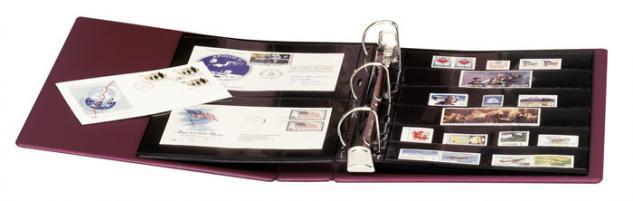 Lindner 1710 UNIPLATE Ringbinder Album Luxus Weinrot Rot mit 3 Ring - Mechanik (leer) zum selbstbefüllen - Vorschau 2