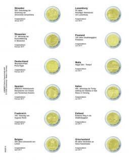 1 x LINDNER MU2E18 Multi Collect Münzblätter Münzhüllen Vordruckblatt 2 Euro Gedenkmünzen Slowakei 2017 - Giiechenland 2017