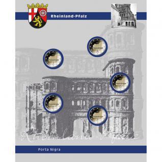 1 x SAFE 7821-12 TOPset Ergänzungsblätter 5x 2 Euromünzen Deutsche Bundesländer Rheinland-Pfalz Trier Porta Nigra 2017