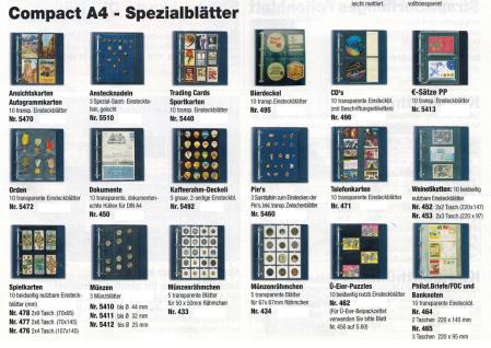 5 x SAFE 471 Compact A4 Ergänzungsblätter Spezialblätter Telefonkarten / Visitenkarten - Vorschau 2