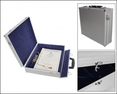 SAFE 224 Security ALU Aktenkoffer abschließbar mit 2-Ringmechanik DIN A4 Maße 35x30x10 cm