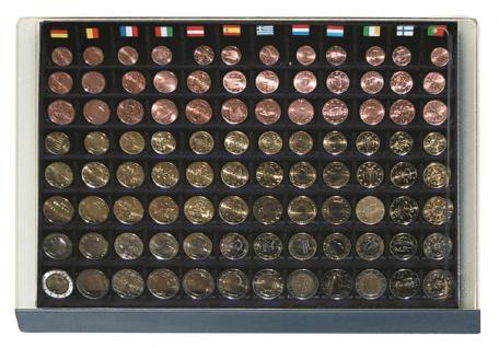 SAFE 6500-1 Classic Holz Möbelelement + 6x Schuber 6540 für 60 komplette Euro KMS Kursmünzensätze 1, 2, 5, 10, 20, 50 Cent - 1, 2 Euro Münzen - Vorschau 2