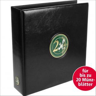 SAFE 7362 PREMIUM MAXI 2 EUROMÜNZEN MÜNZALBUM extra Breit (leer) für bis zu 20 Münzblätter mit Vordrucken für 2 Euro Gedenkmünzen