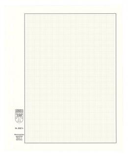 10 x LINDNER 802H Blanko-Blätter Weiß DIN A5 Silbergrauer Netzunterdruck + Schwarze Umrandunsglinie 13 er Lochung Format 174x215mm - Vorschau 1