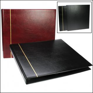 SAFE 1317-1 Standard Postkartenalbum Album Ringbinder Bordeaux Rot (leer) zum selbstbefüllen - Erweiterbar bis 300 Postkarten Ansichtskarten - Vorschau 1