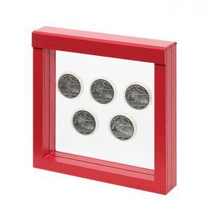 LINDNER 4868 NIMBUS 150 Rot Krokodesign Sammelrahmen Schweberahmen 3D 150x150x25 mm Für Münzen & US Slab Münzkapseln - Vorschau 5