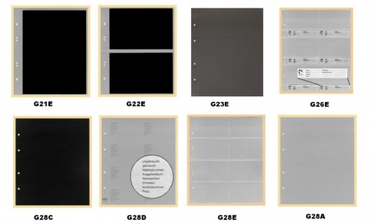 """KOBRA G24 Schwarz Universal Doppel-FDC-Album Sammelalbum """" XL """" 10 Blättern Für 40 Fotos Bilder FDC Briefe Postkarten Ansichtskarten - Vorschau 4"""