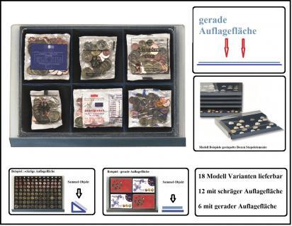 SAFE 6462 Stapelelemente Münzboxen - mit blauer Einlage 6 Fächer 115x108 mm Für 6x Starter - Kits der Euro Länder