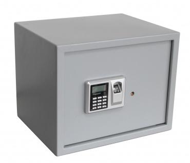 "SAFE 3993 Security Tresor "" Midi "" Möbeltresor Wandtresor Schliessfach Banksafe mit elektonischem Zahlenschloss 380x300x300 mm & Fingerprint"