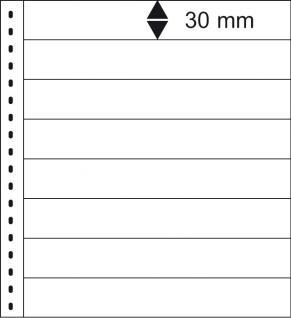 10 x LINDNER 016P Omnia Einsteckblätter weiss 8 Streifen x 30 mm Streifenhöhe