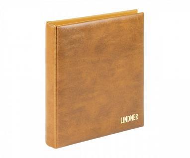 Lindner 1106y - H Münzalbum Karat Classic Hellbraun Braun Album Ringbinder (leer) - Vorschau 1
