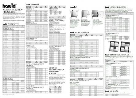 HAWID HA 1044 / HA1044 Grüne Verpackung 25 Streifen 210x44 mm schwarze Klemmtaschen - Vorschau 3