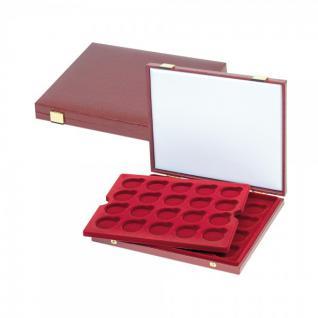 LINDNER S2451 Luxus Kassetten 2 Tableaus 40 x 10 - 20 Euromünzen Deutschland in Münzkapseln 32, 5 PP